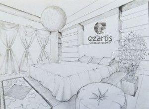 Ozartis La Rochelle Dessin Chambre Elisa Copie Perspective Arts Et Loisirs Creatifs La Rochelle France