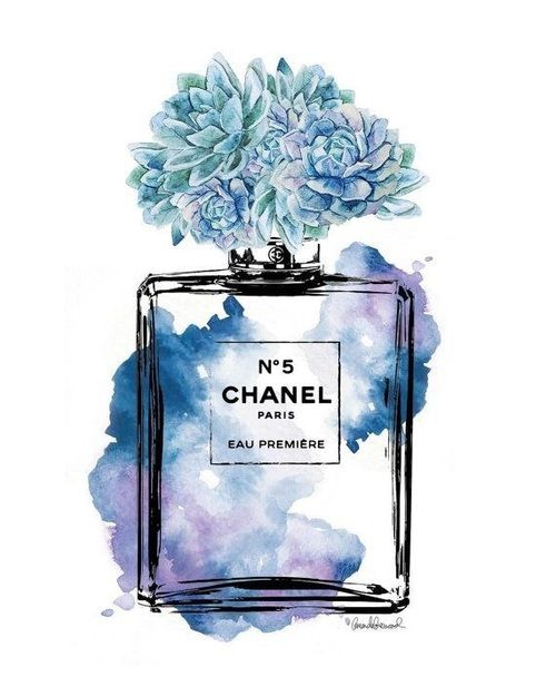 Chanel Art And Blue Image Chanel Art Perfume Art Chanel Poster