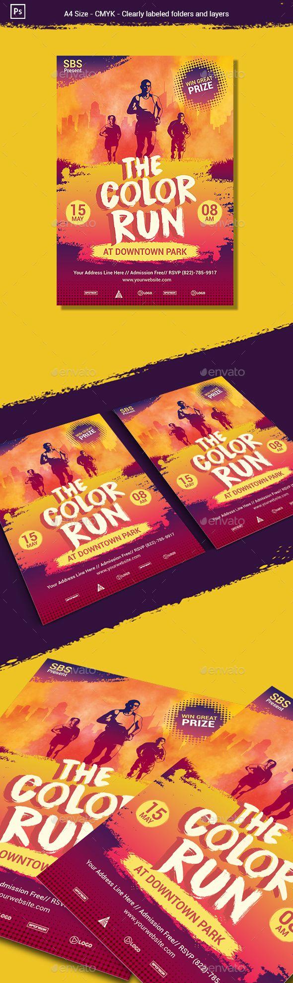 the colour run flyer poster template psd flyer templates
