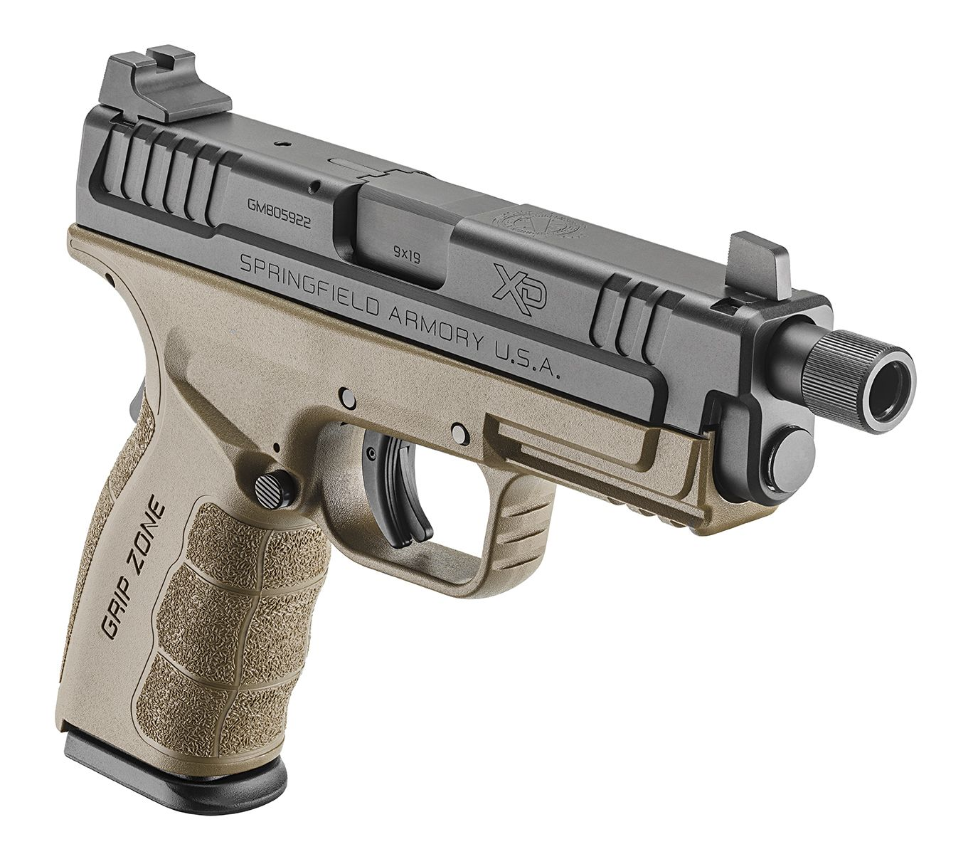 Xd mod2 4 service model 9mm threaded barrel springfield springfield armory the xd threaded service model is perfectly proportioned for silenced use sciox Choice Image