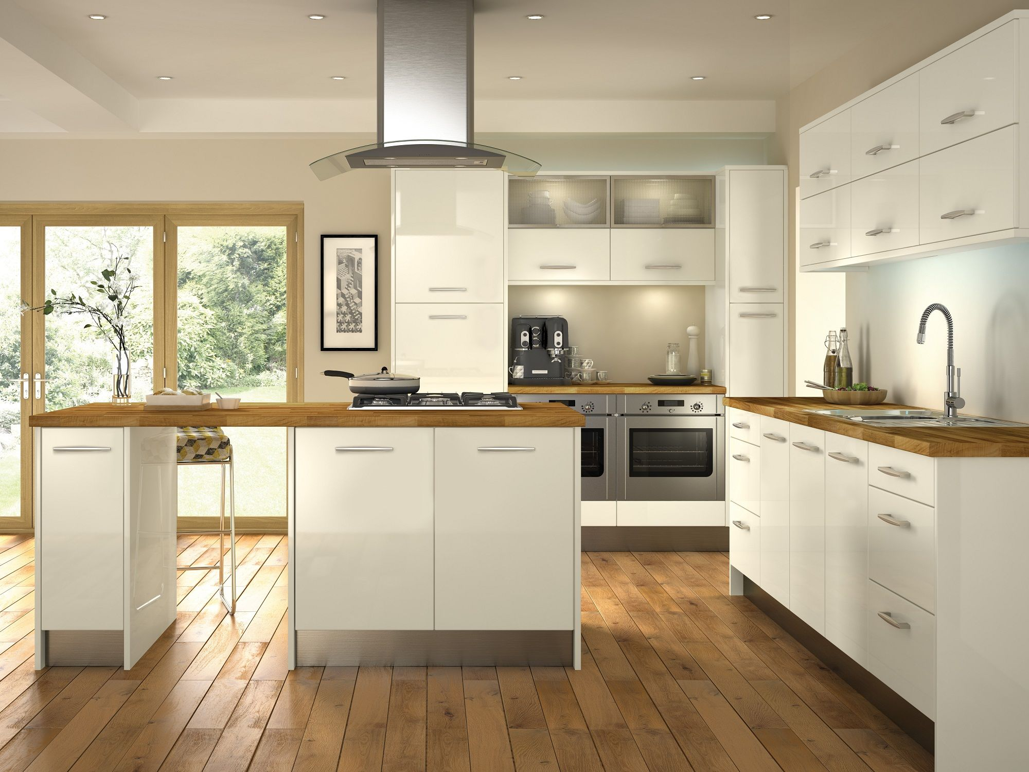 Minoco ivory this gloss kitchen door would make any for Ivory kitchen ideas