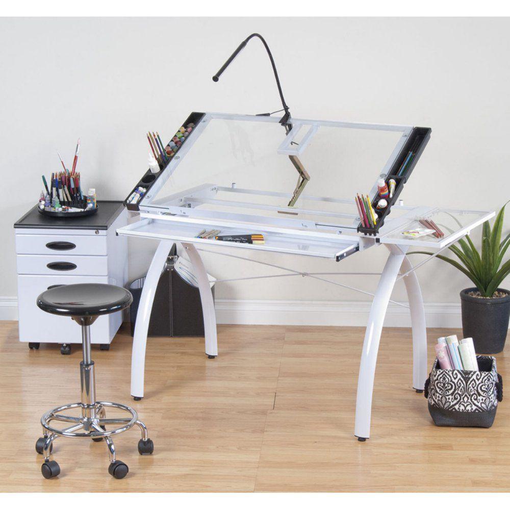 High Quality Studio Designs  Futura Craft Station With Folding Shelf, Studio Stool, LED  Bar Lamp