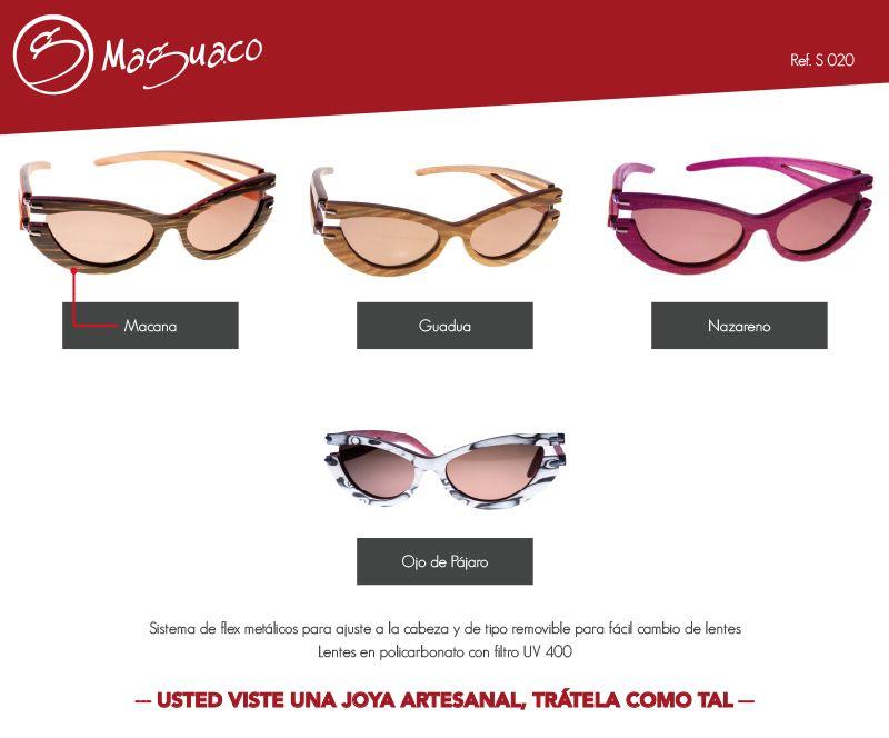 cef58ba603 Gafas de sol en madera con filtro UV marca Maguaco S020. $200.000 COP