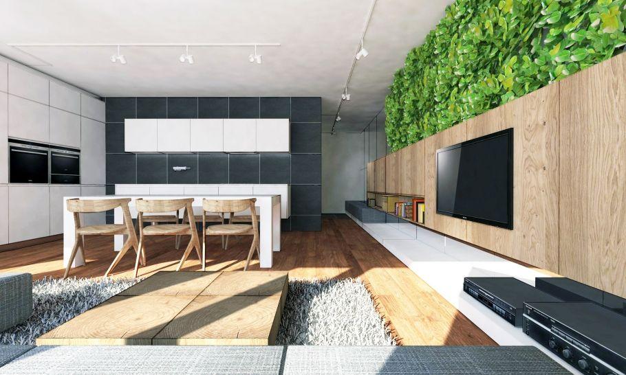 Zariadenie obývačky s kuchyňou a jedálňou, Tarjanne, Bratislava | RULES Architekti