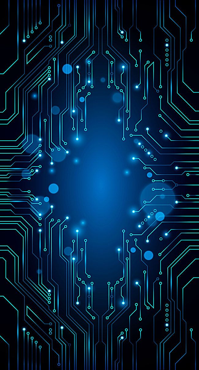 Vector Blue Technology Background Circuit Diagram Phone Wallpapers