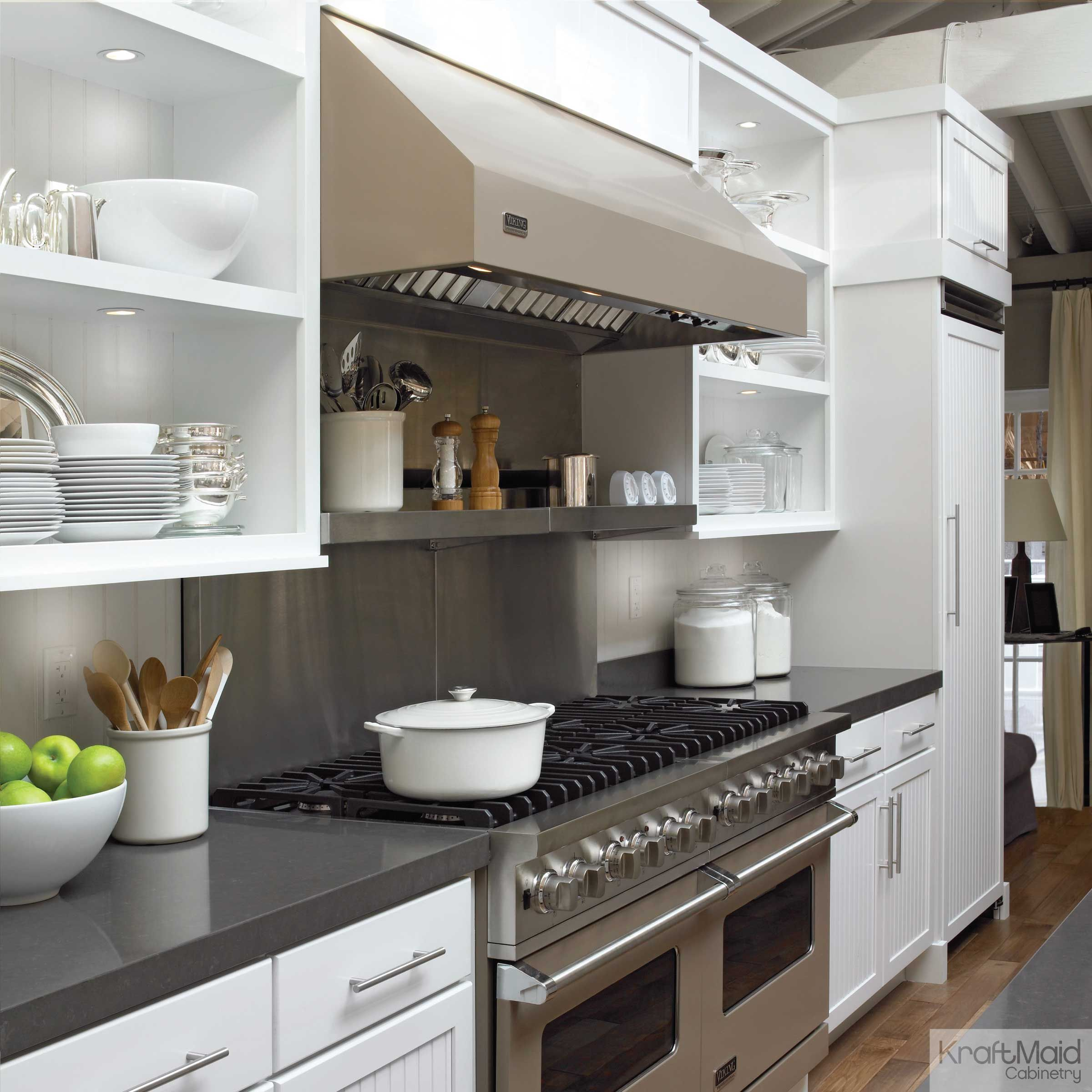 New Look Kitchen And Bath: Maple In Dove White Kitchen