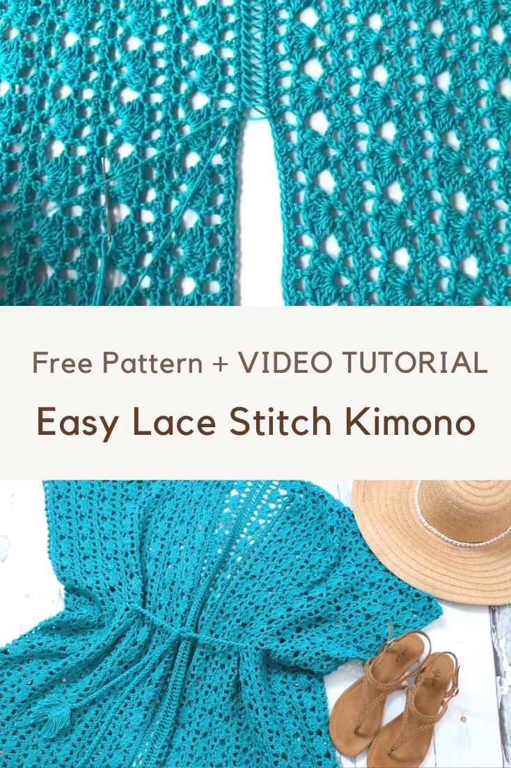 Photo of Free Crochet Pattern – Lacy Days Kimono