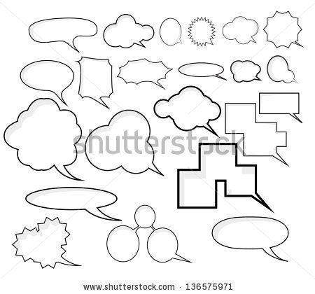 comic speech bubbles keyword blank, box, bubble, burst
