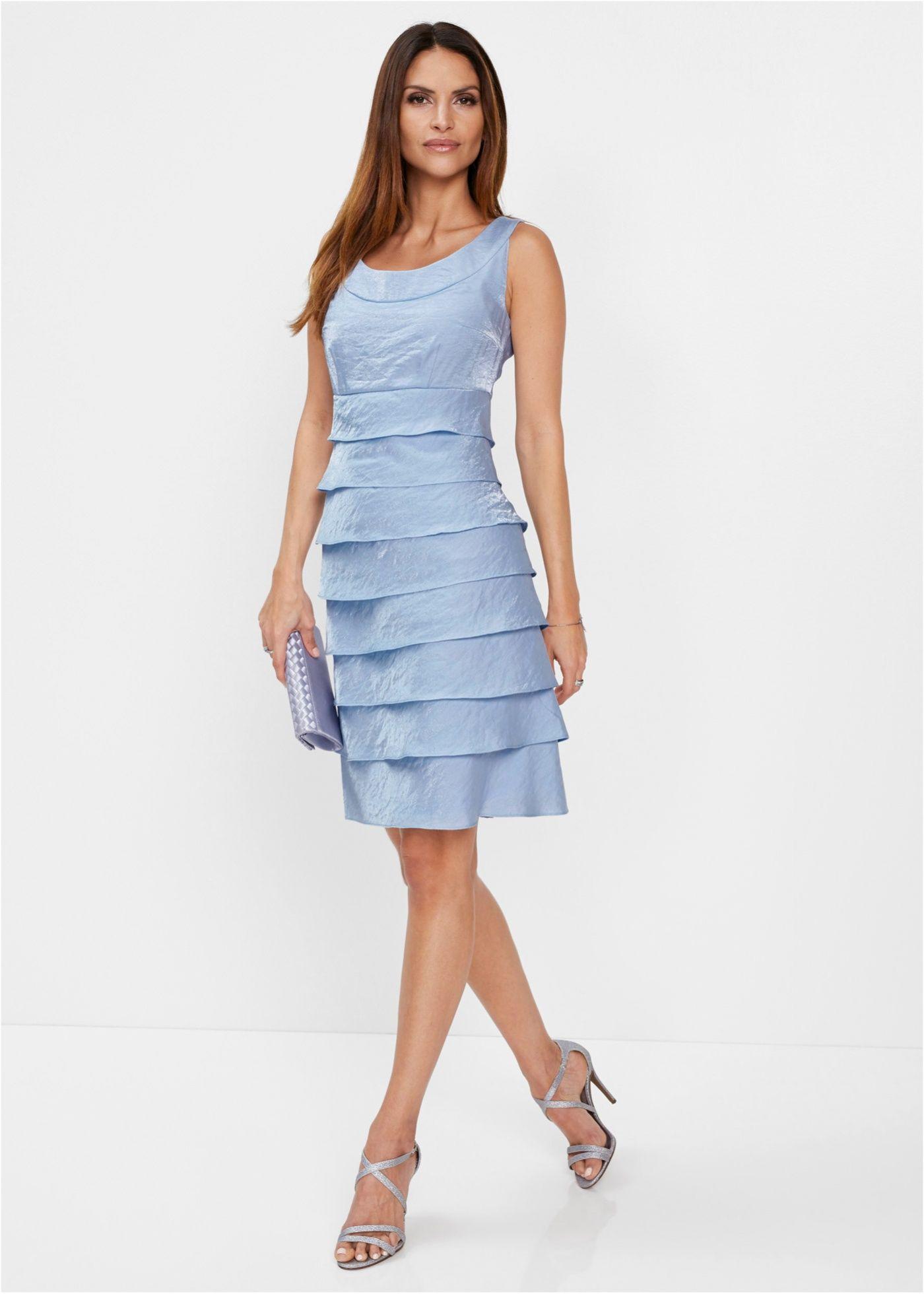 Premium Kleid puderblau jetzt im Online Shop von bonprix.de ab