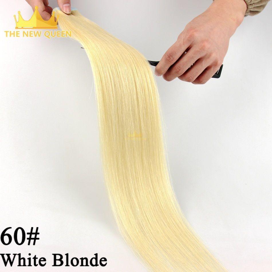 60 Brazilian Remy Tape Hair Extension 20pcslot Pure Real Brazilian