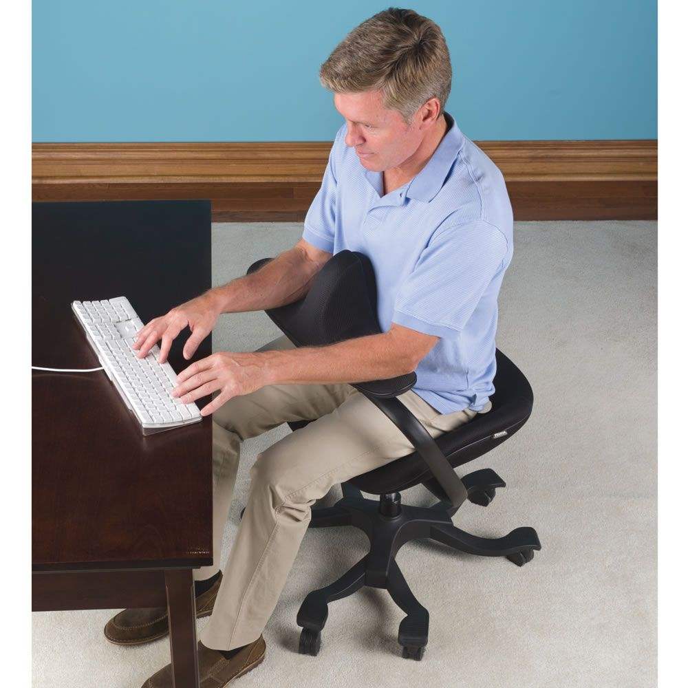 The Optimal Posture Office Chair Has A Chest Rest That Provides