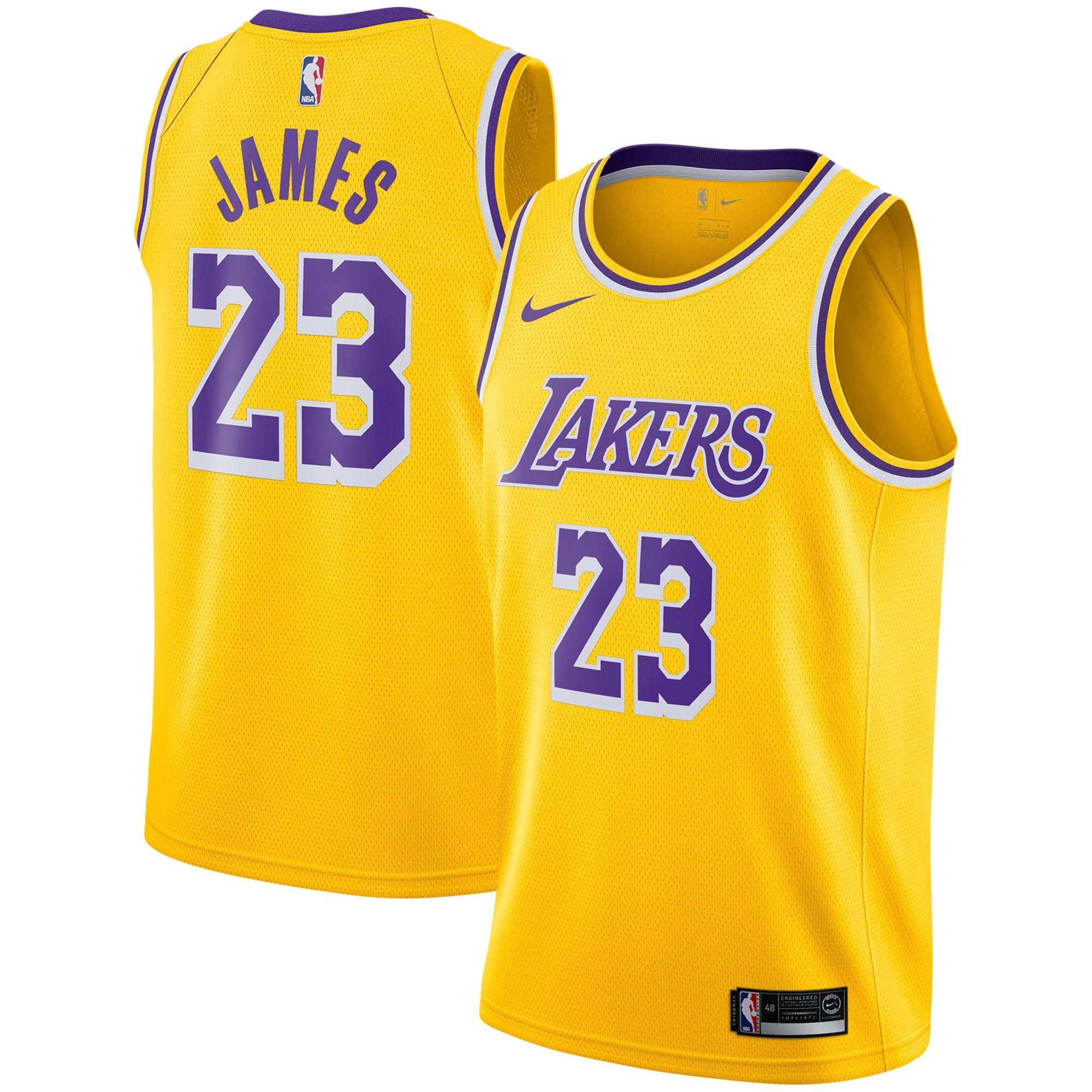 LeBron James Los Angeles Lakers Nike 2018 19 Swingman Jersey Gold - Icon  Edition cd4d4daff