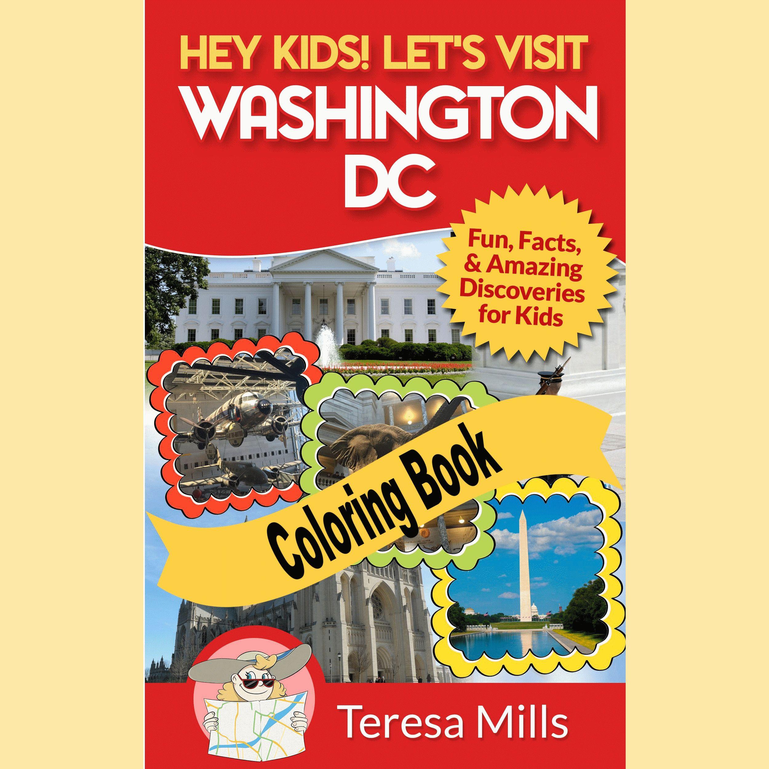 Washington Dc Coloring Book For Kids And Adults Printable