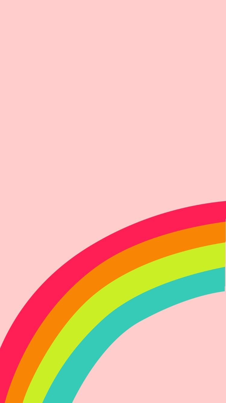 Pink, rainbow, wallpaper Rainbow wallpaper iphone