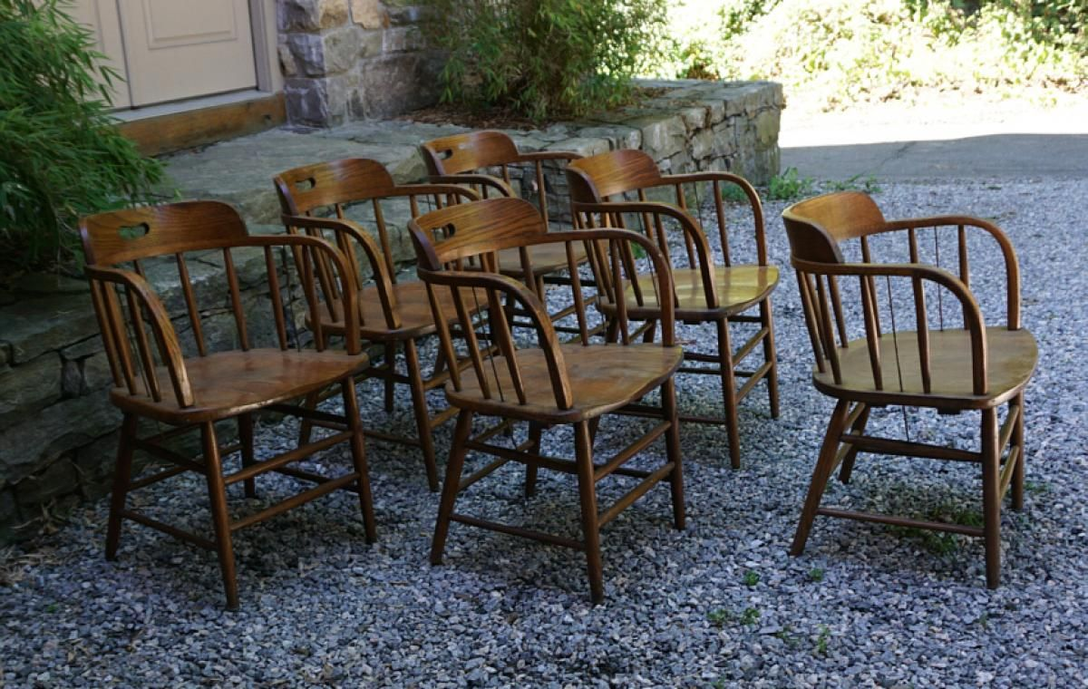 Esszimmermöbel Vintage Boling Chair Company Vintage Oak Firehouse Chairs Ni Restaurant In
