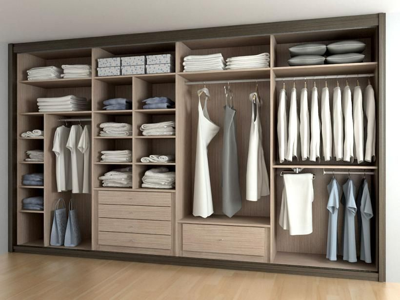C mo organizar el armario placsrds como organizar el - Interiores armarios empotrados puertas correderas ...