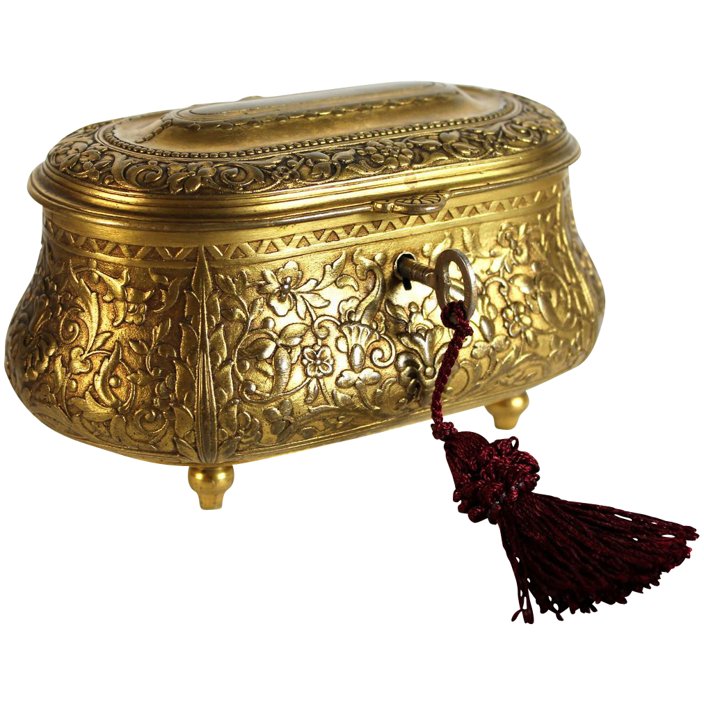 Antique Signed Bronze Barbedienne Jewelry Box Casket With Key From Juliet Jones Vintage On Ruby Lane Casket Vintage Jewelry Box Jewelry Box