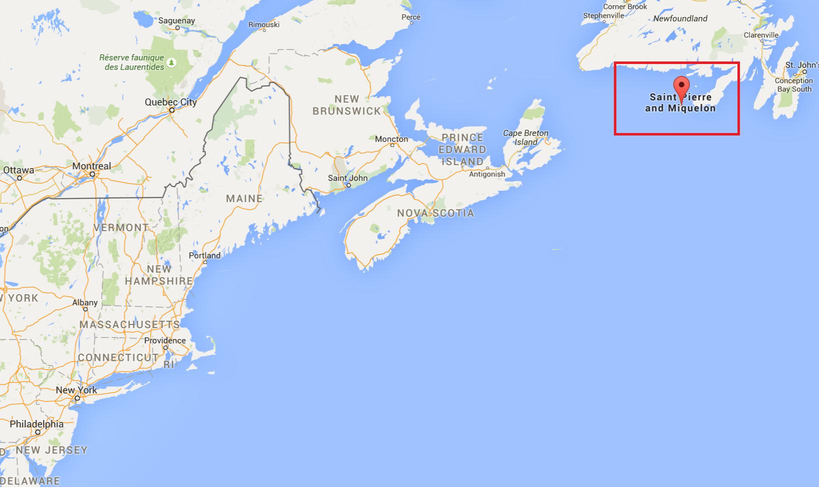 Saint Pierre And Miquelon People France SaintPierre Et Miquelon - Saint pierre and miquelon map