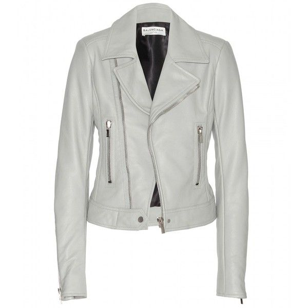 Balenciaga Leather Biker Jacket (7.330 BRL) ❤ liked on Polyvore featuring outerwear, jackets, leather jacket, balenciaga, coats & jackets, balenciaga jacket, leather biker jacket, motorcycle jacket and moto jacket
