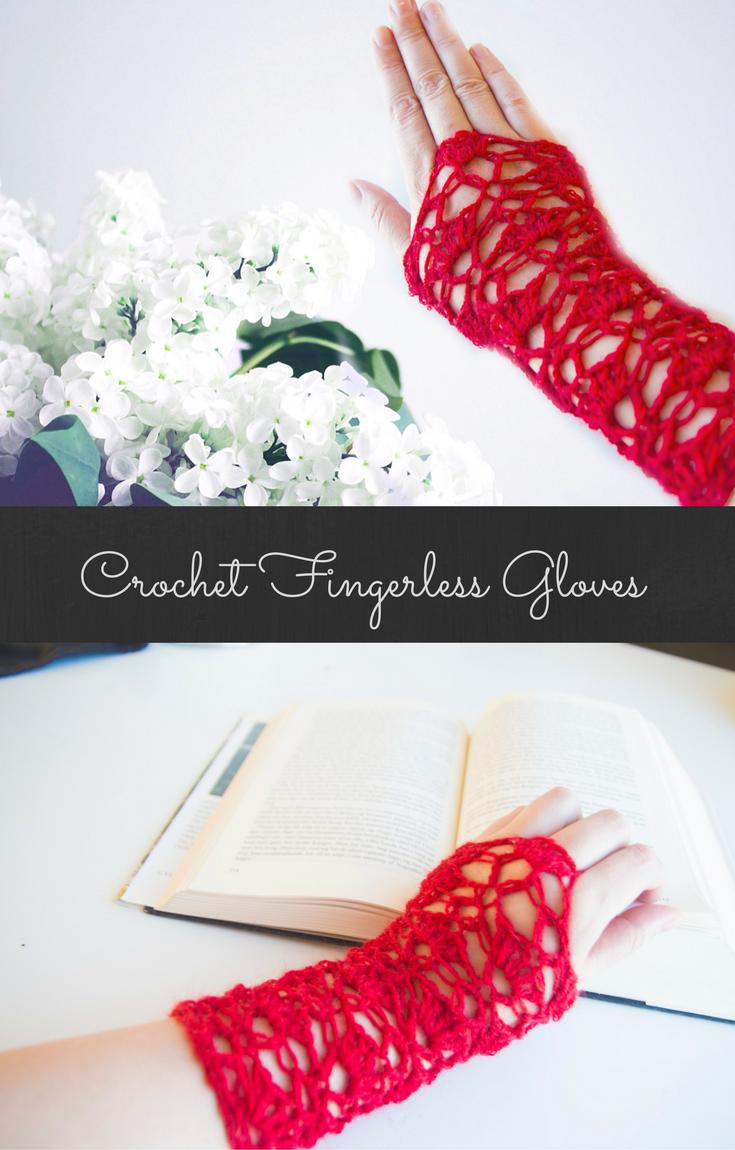 Crochet fingerless glove - lace - free pattern on Ravelry. Victorian ...