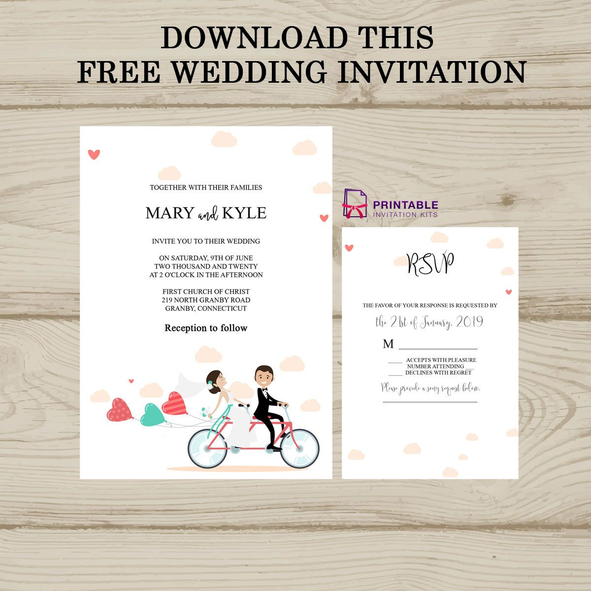 This Free Wedding Invitation Template Is Free To Download Wedding Invitations Printable Templates Wedding Invitation Inserts Wedding Invitation Templates
