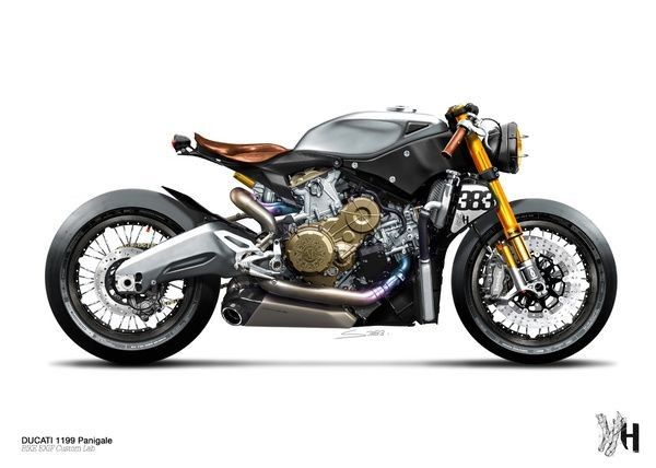 holographic hammer's 899 panigale cafe racer. | cafe love