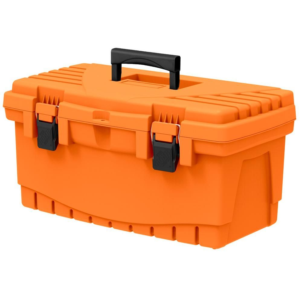 e42252c1965 The Home Depot 19 in. Plastic Tool Box with Metal Latches and Removable Tool  Tray