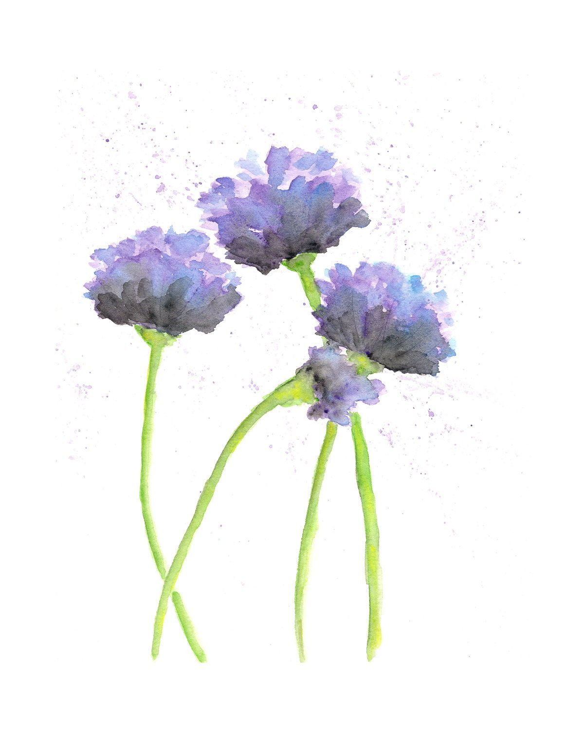 Watercolor flower painting watercolor poppies abstract for How to paint abstract with watercolors