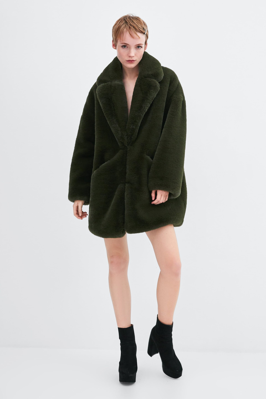 761b2bfc Image 1 of FAUX FUR COAT from Zara | ZARA AW18 in 2019 | Fur Coat ...