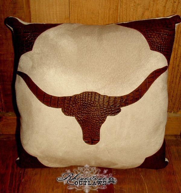 Longhorn Croc Pillow - $40.00