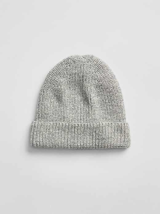 d332a10ca0daa Gap Mens Ribbed Beanie Light Grey Marle