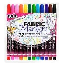 tulip fabric markers are easy to use permanent and machine washable