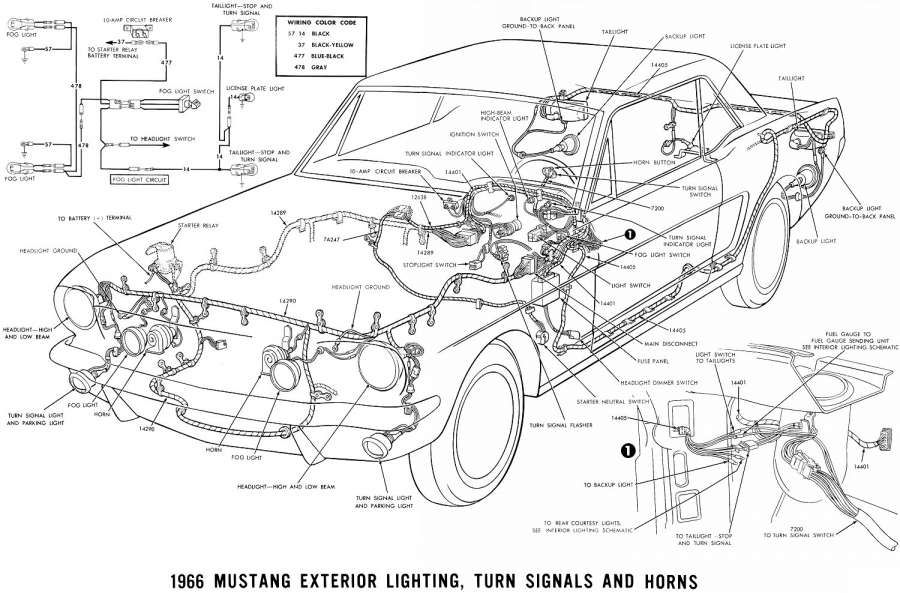 67 Mustang Engine Wiring Diagram and Vintage Mustang