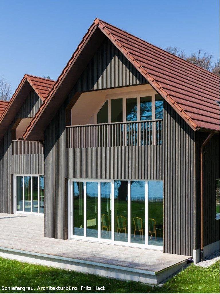 Fassadengestaltung bungalow grau  vorvergraute Holzfassade | Produkt: Dura Patina, Rechteckleiste ...