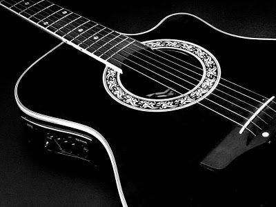 Black Acoustic Guitar Wallpapers Muziekinstrumenten Gitaar