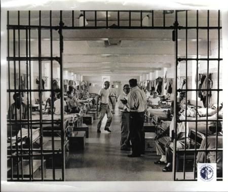 Early photo of the interior of the old LaGrange, KY prison