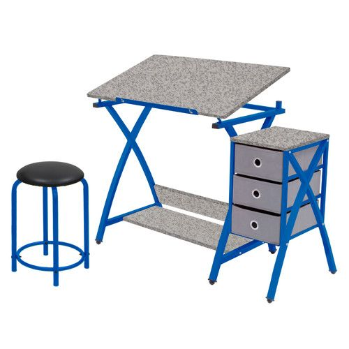 Found it at Wayfair - Center Comet Writing Desk with Stool