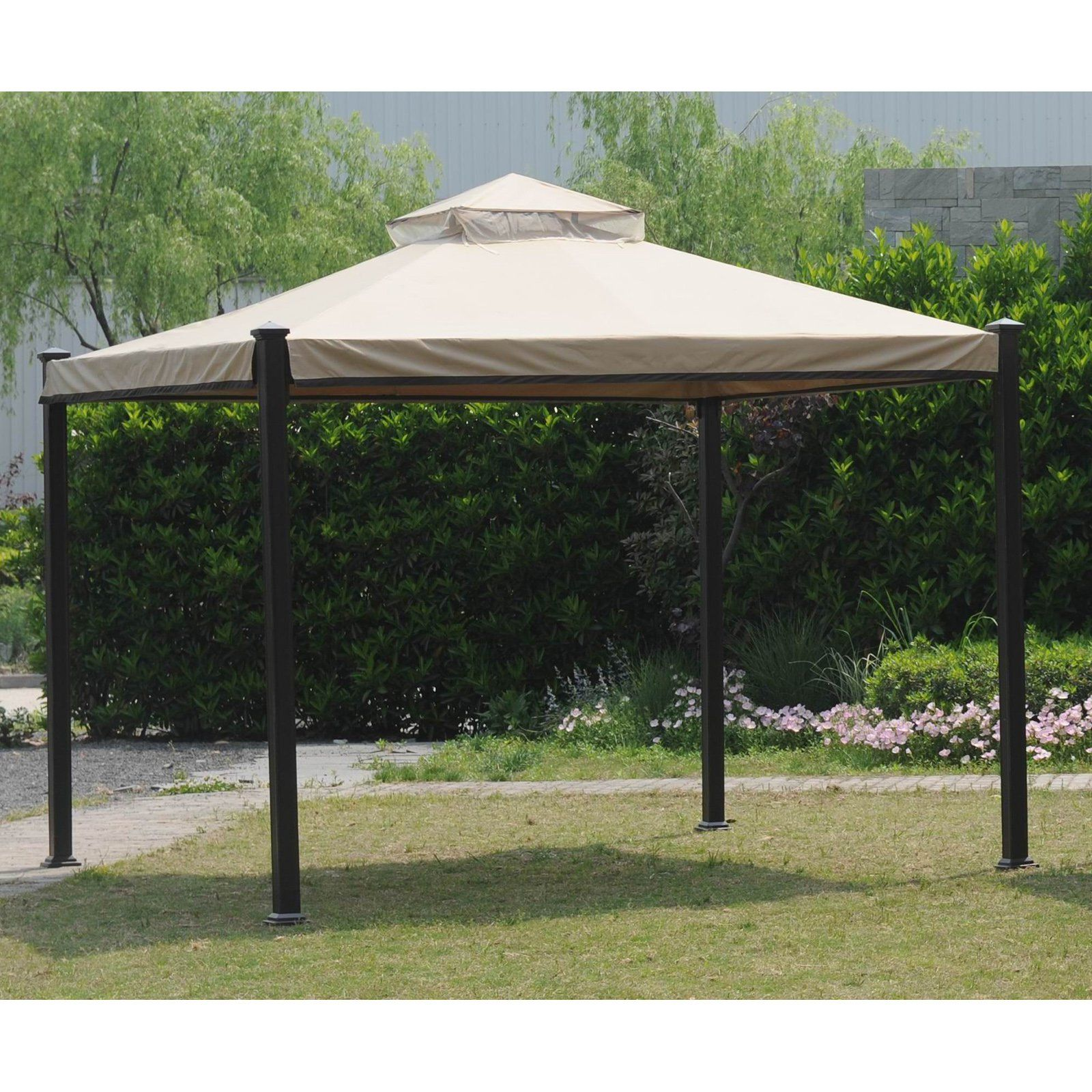 Sunjoy 10 X 10 Ft Replacement Canopy Cover For L Gz526pst Everton Gazebo Outdoor Shade Gazebo Canopy Cover