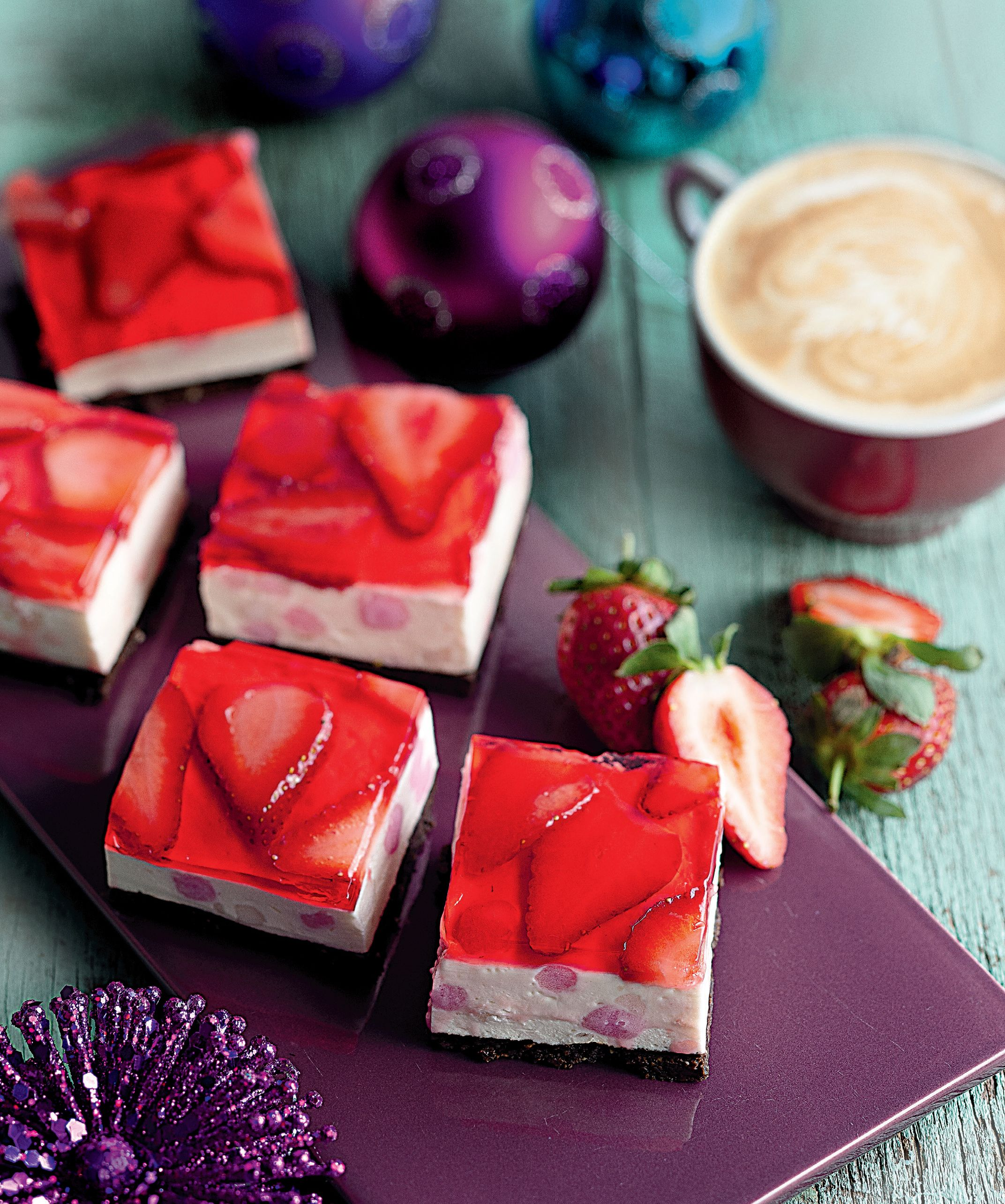 Strawberry Jelly Slice. Impress Your Friends With This