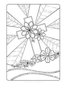 Free Easter Adult Coloring Page By Faith Skrdla Resurrection Cross