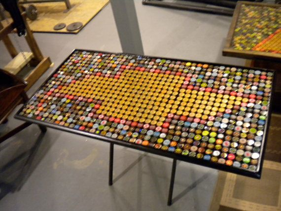 Bottle Cap Art Chevrolet Or Chevy Logo Table Top Epoxy Customized Size And Caps