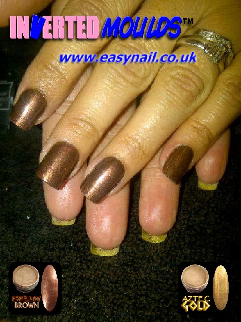 HAZELNUT BROWN and AZTEC GOLD Inverted Moulds by Kerry from ...