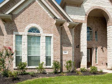 Love Design Around Window With Stone Brick Exteriors And