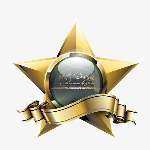 Golden Star Golden Luxury Ribbon Png Transparent Clipart Image And Psd File For Free Download Logo Design Branding Identity Golden Star Logo Maker Free