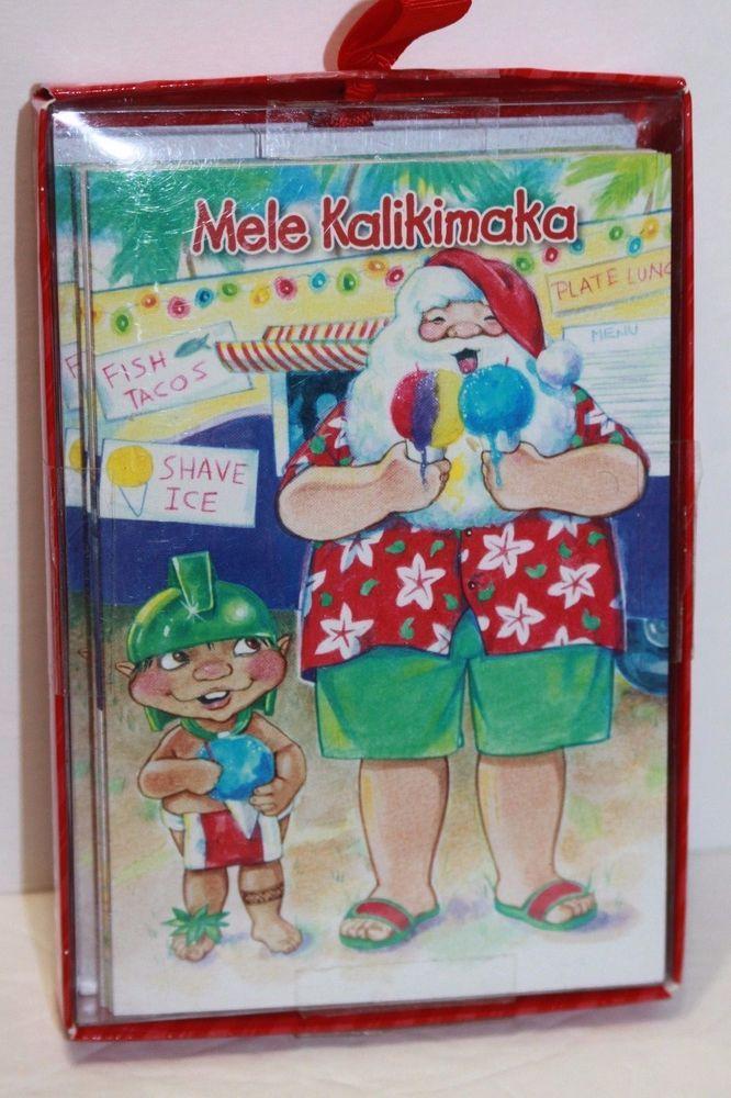 Box of 10 Santa Claus Sno Cones Christmas Cards Islander Group ...