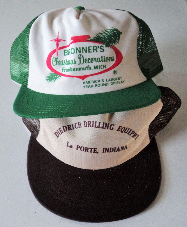 afa58a16250 Vintage Lot (2) Trucker Style Snapback Hats VTG by StreetwearAndVintage on  Etsy