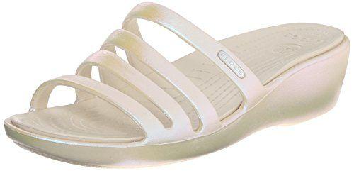 604779b8153 crocs Women s Rhonda Iridescent WDG W Dress Sandal