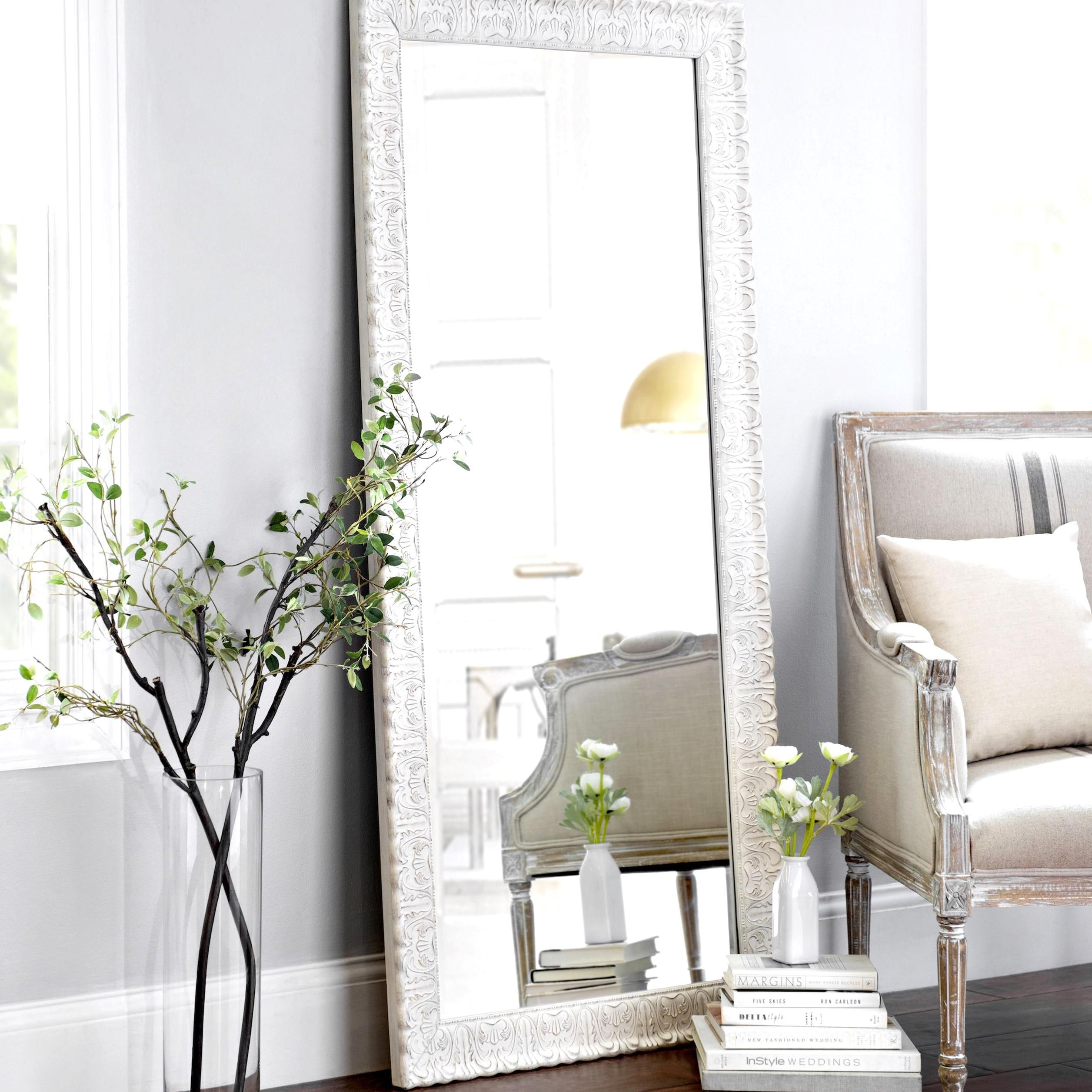 Give your bedroom a regal feel with the Ornate Distressed ... on Floor Mirrors Decorative Kirklands id=80163