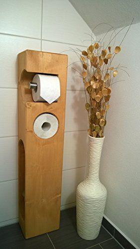 toilettenpapierhalter holz mit wc b rste mit herz und holz. Black Bedroom Furniture Sets. Home Design Ideas
