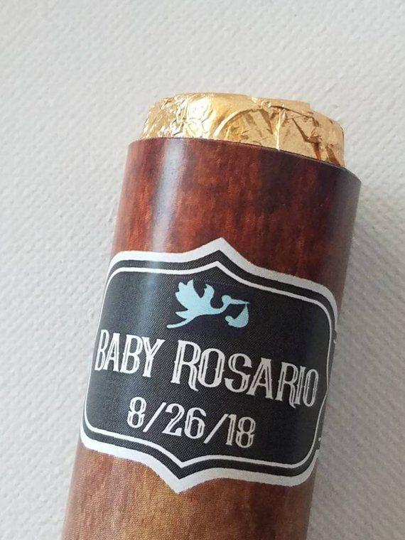 Custom Cigar Baby Shower Favorsgender Neutral Reveal Partyits A
